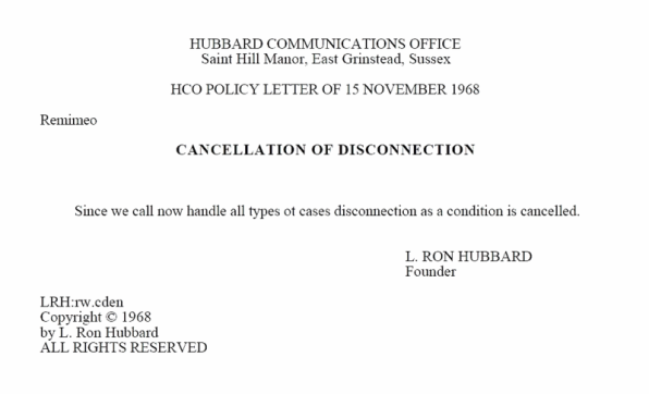 LRH.Disconnection.Cancelled